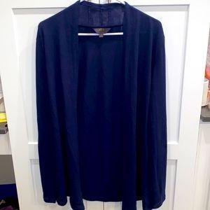 Blue long sleeve cardigan